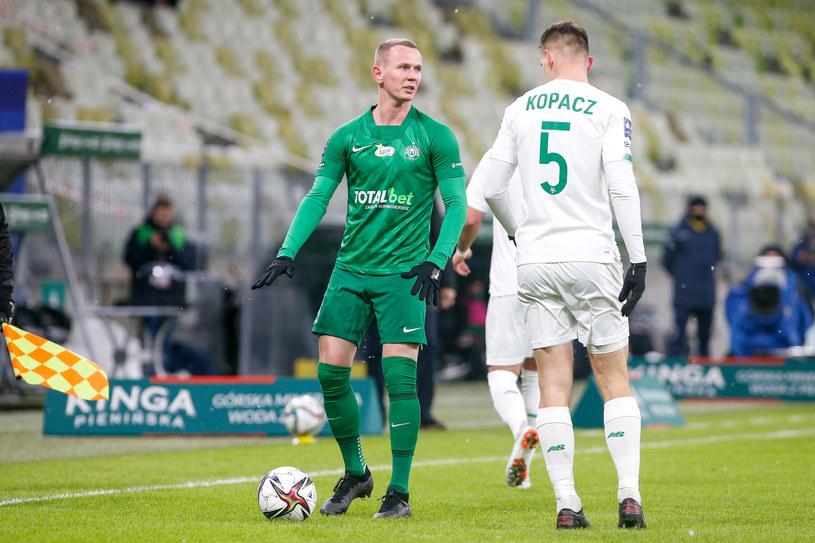 Mateusz Kuzimski z Warty Poznań w meczu z Lechią Gdańsk /GRZEGORZ RADTKE / 058sport.pl / NEWSPIX.PL /Newspix