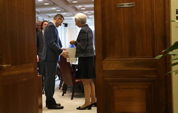 Mateusz Morawiecki, Christine Lagarde (MFW) w Waszyngtonie. Fot. MR /Informacja prasowa
