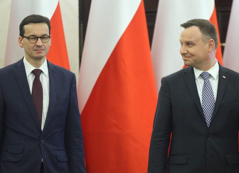 Mateusz Morawiecki i Andrzej Duda /STEFAN MASZEWSKI/REPORTER /Reporter