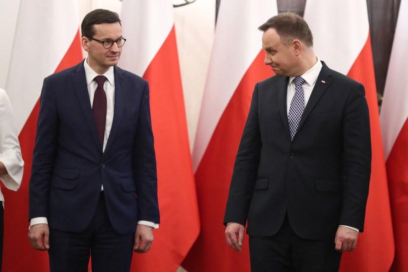 Mateusz Morawiecki i Andrzej Duda /Andrzej Iwańczuk /Reporter