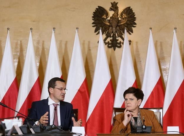 Mateusz Morawiecki i Beata Szydło /fot. Paweł Supernak /PAP