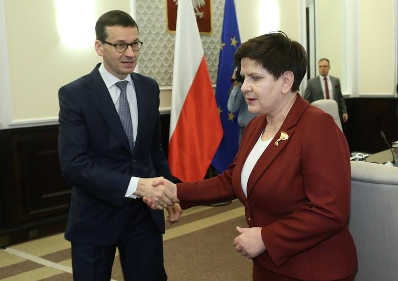 Mateusz Morawiecki i Beata Szydło /Stefan Maszewski /Reporter