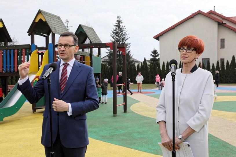 Mateusz Morawiecki i Elżbieta Rafalska /Paweł Supernak /PAP