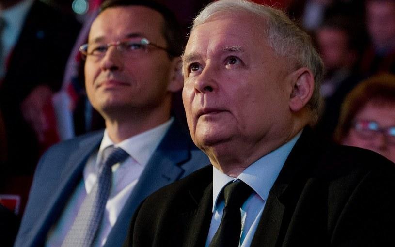 Mateusz Morawiecki i Jarosław Kaczyński /Łukasz Krajewski /