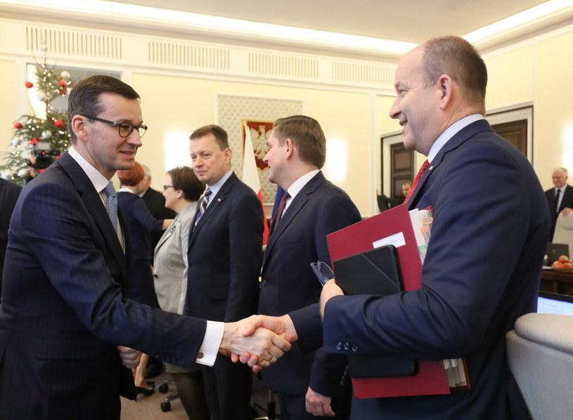 Mateusz Morawiecki i Konstanty Radziwiłł /Paweł Supernak /PAP