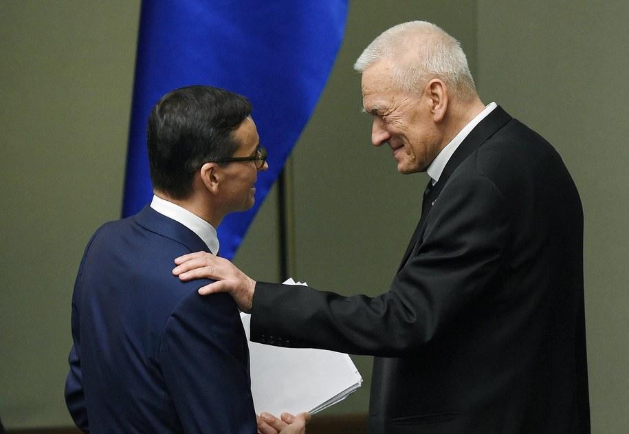 Mateusz Morawiecki i Kornel Morawiecki /Radek Pietruszka /PAP