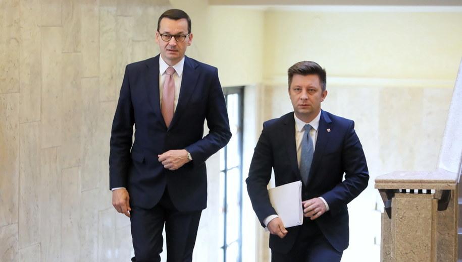 Mateusz Morawiecki i Michał Dworczyk /Leszek Szymański /PAP