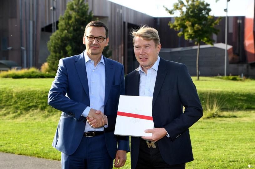 Mateusz Morawiecki i Mika Hakkinen /Radek Pietruszka /PAP