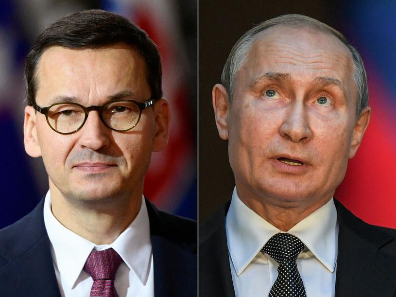 Mateusz Morawiecki i Władimir Putin /JOHN THYS/AFP/ /East News