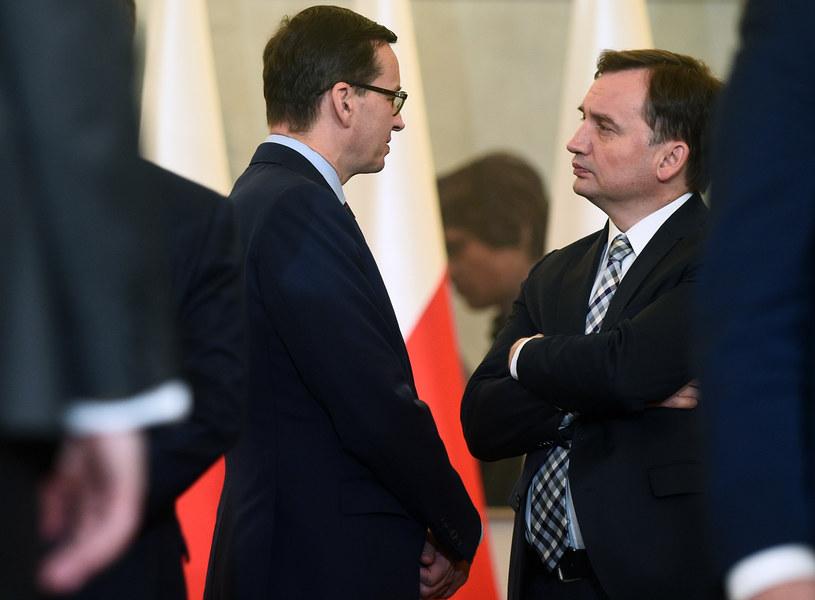 Mateusz Morawiecki i Zbigniew Ziobro /Adam Chelstowski /Agencja FORUM
