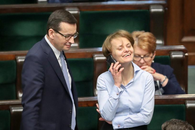 Mateusz Morawiecki, Jadwiga Emilewicz /fot. Andrzej Iwanczuk/REPORTER /