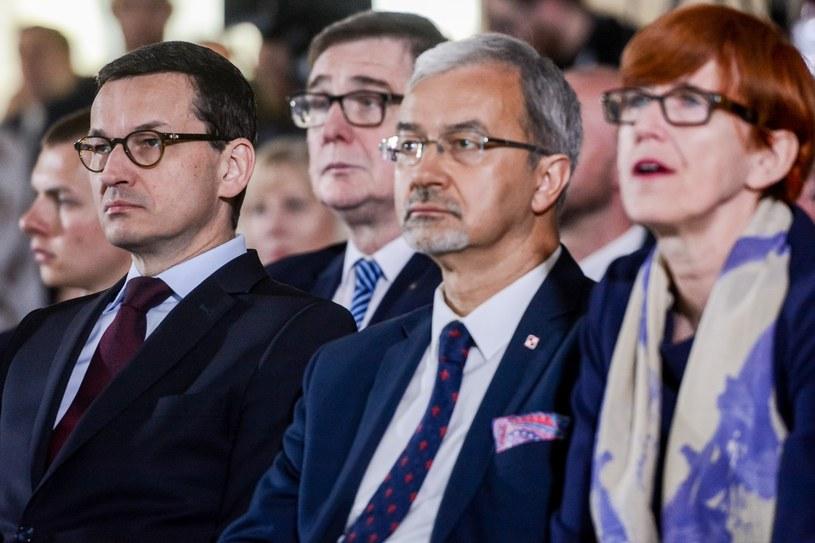 Mateusz Morawiecki, Jerzy Kwieciński i Elżbieta Rafalska /Mariusz Gaczyński /East News