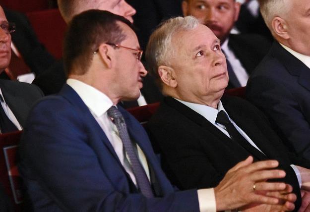 Mateusz Morawiecki (L), Jarosław Kaczyński. Fot. M. Lasyk /Reporter