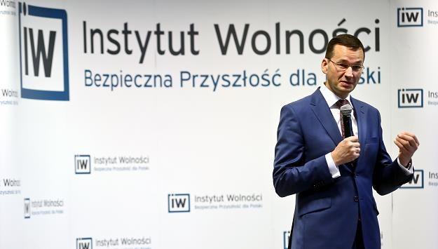 Mateusz Morawiecki, minister finansów, rozwoju, szef KERM i wicepremier rządu /PAP