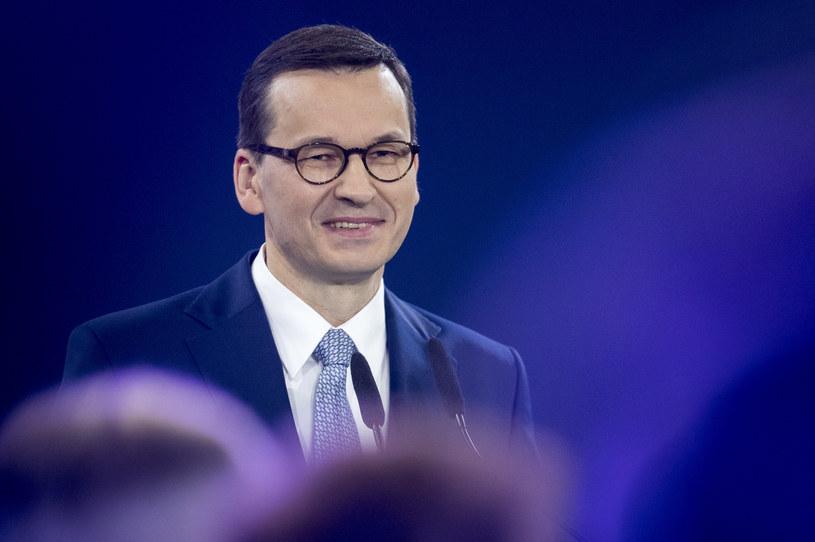 Mateusz Morawiecki na konwencji PiS /Andrzej Iwańczuk /Reporter
