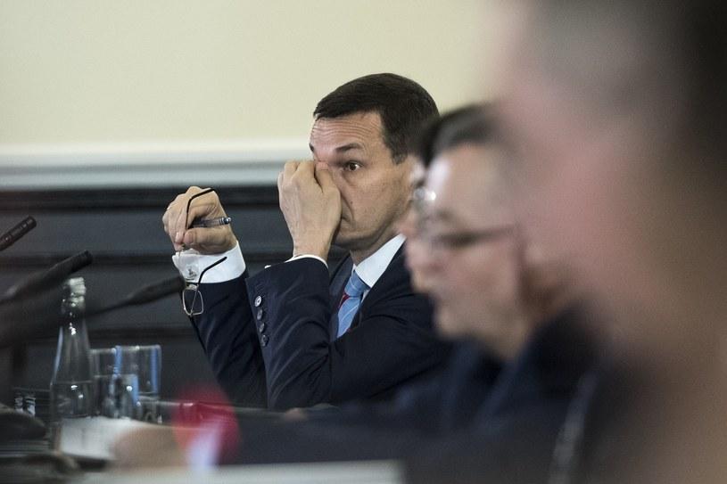 Mateusz Morawiecki na posiedzeniu rządu /Jacek Domiński /Reporter