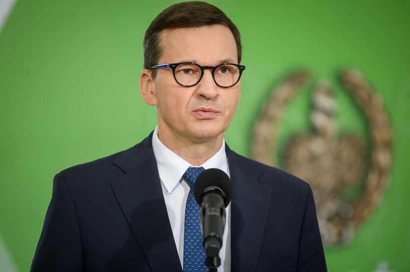 Mateusz Morawiecki podczas poniedziałkowej konferencji /Zbyszek Kaczmarek /Reporter