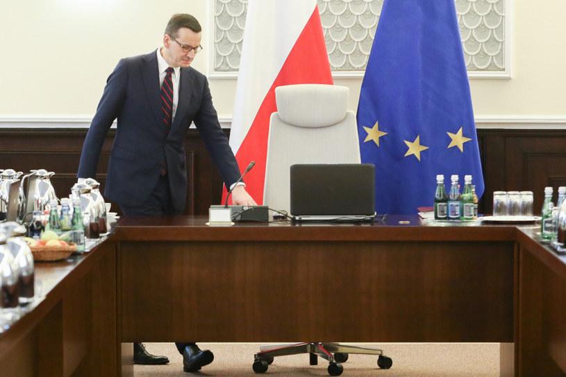 Mateusz Morawiecki podczas posiedzenia rządu /Tomasz Jastrzębowski /Reporter