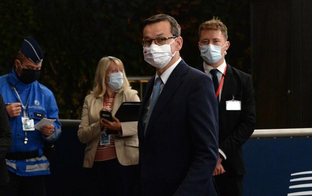 Mateusz Morawiecki podczas szczytu UE /JOHANNA GERON / POOL /PAP/EPA