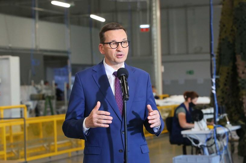 Mateusz Morawiecki podczas wizyty w Turku /Tomasz Wojtasik /PAP