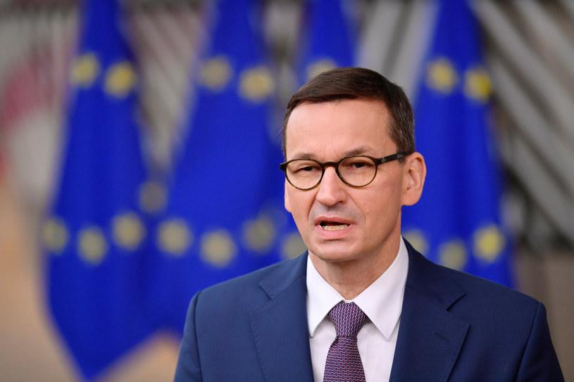 Mateusz Morawiecki prezentuje propozycje w sprawie szczepień na szczycie Unii Europejskiej/ zdj. ilustracyjne /JOHN THYS/AFP/East News /East News