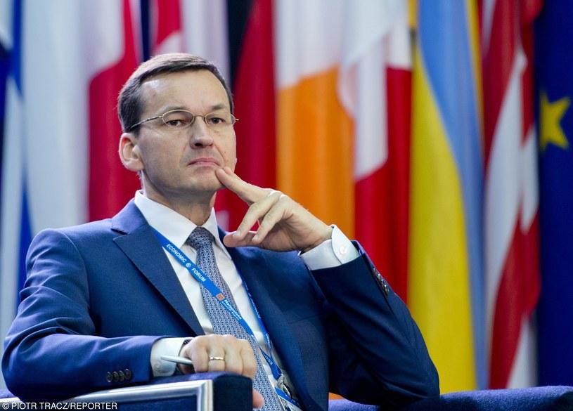 Mateusz Morawiecki, syn Kornela, w rządzie Beaty Szydło jest wicepremierem i ministrem rozwoju /Reporter