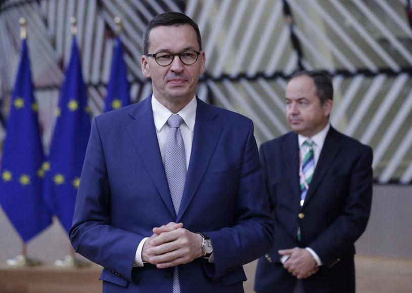 Mateusz Morawiecki w Brukseli /OLIVIER HOSLET /PAP/EPA