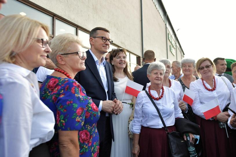 Mateusz Morawiecki w Górznie, 7 lipca /Przemysław Piątkowski /PAP