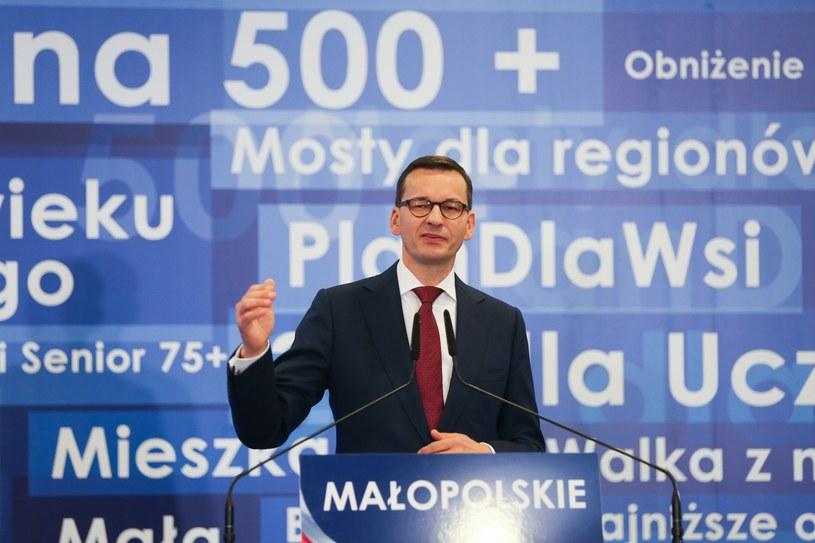 Mateusz Morawiecki w Krakowie /Beata Zawrzel /Reporter