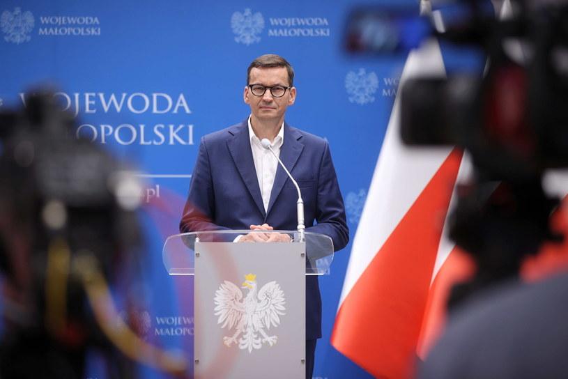 Mateusz Morawiecki w Krakowie /Łukasz Gągulski /PAP