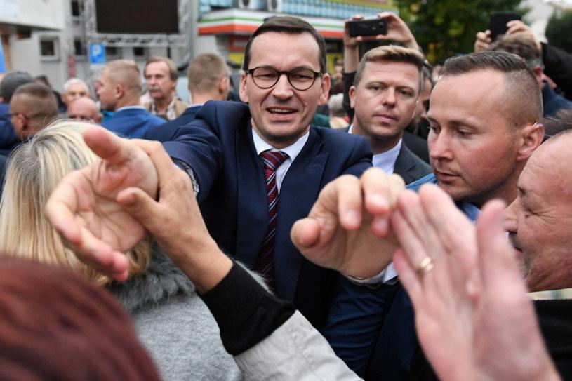 Mateusz Morawiecki w Lubartowie /PAP