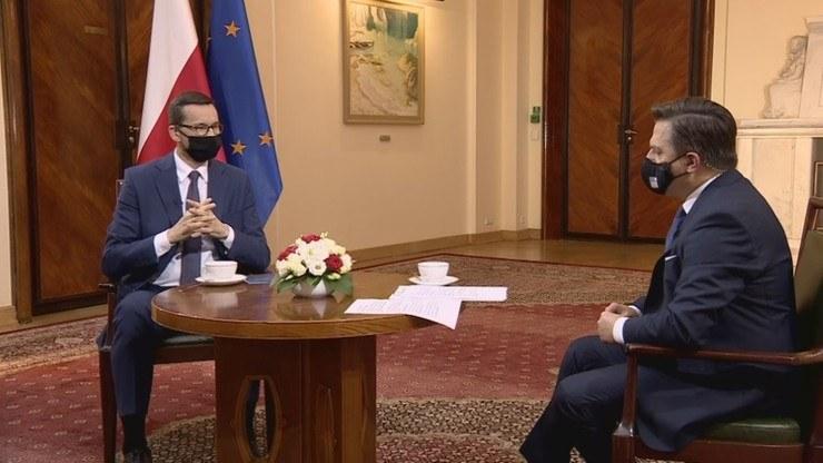 Mateusz Morawiecki w rozmowie z Bogdanem Rymanowskim /Polsat News