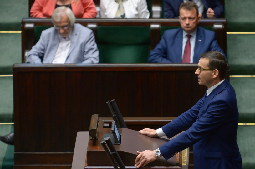 Mateusz Morawiecki w Sejmie /Marcin Obara /PAP