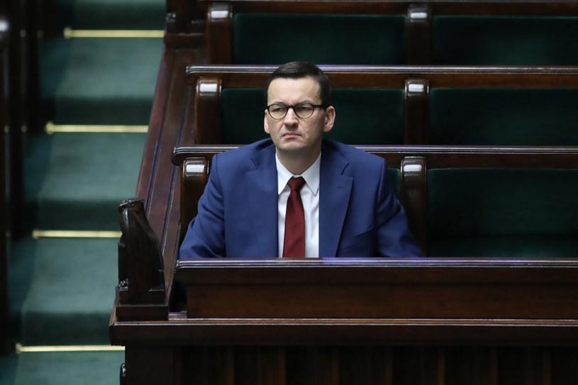 Mateusz Morawiecki w Sejmie / Leszek Szymański    /PAP