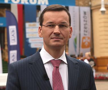 Mateusz Morawiecki, wicepremier i minister rozwoju w studiu telewizyjnym Interii w Krynicy