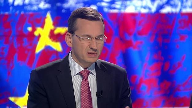 Mateusz Morawiecki, wicepremier i minister rozwoju. Źródło: TVN24 / x-news /