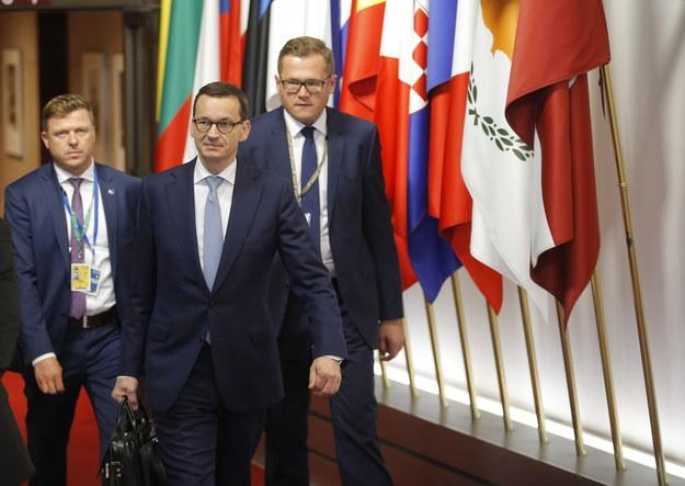 Mateusz Morawiecki /OLIVIER HOSLET /PAP/EPA