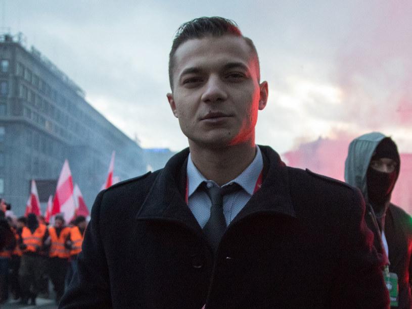 Mateusz Pławski złożył rezygnację z członkostwa w zarządzie Stowarzyszenia Marsz Niepodległości /Paweł Wisniewski /East News