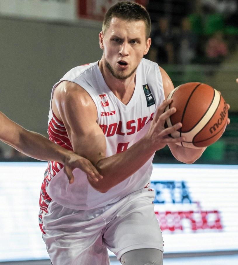 Mateusz Ponitka zdobył z Białorusią 16 punktów /Tymon Markowski /