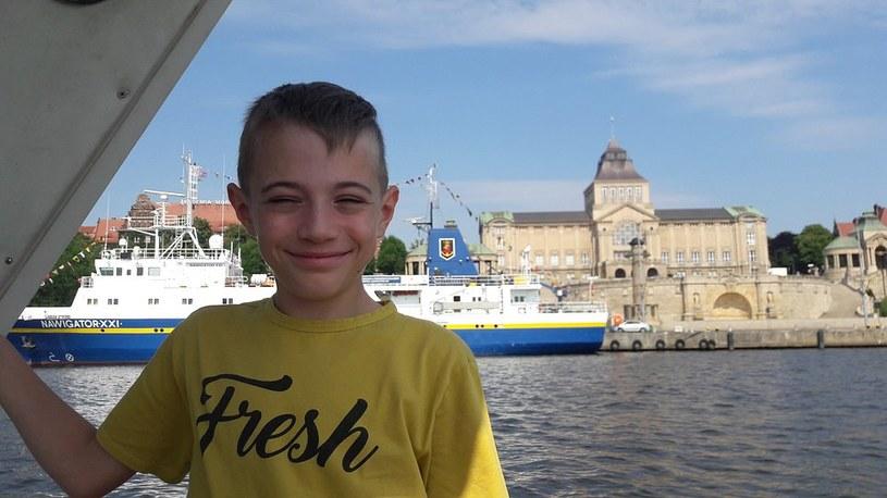 Mateusz w przyszłości chce zostać piłkarzem albo architektem, żeby budować drapacze chmur /Fundacja DKMS /