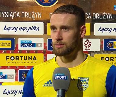 Mateusz Żebrowski (Arka Gdynia): W szatni powiedzieliśmy sobie kilka gorzkich słów (POLSAT SPORT). Wideo