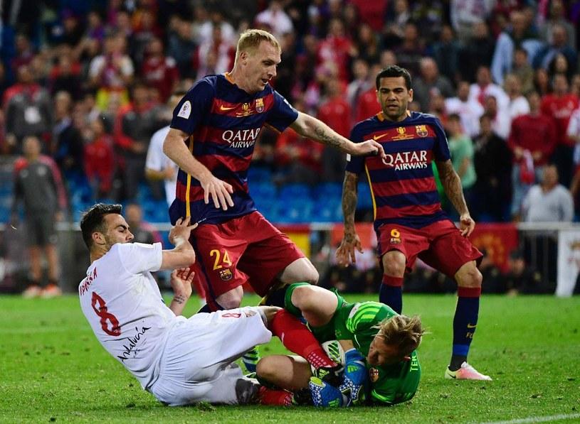 Mathieu podczas spotkania finałowego Copa del Rey z Sevillą /AFP