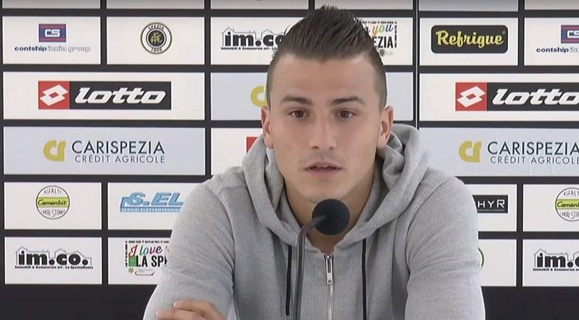 Mato Milosz podczas konferencji prasowej we Włoszech /print screen /