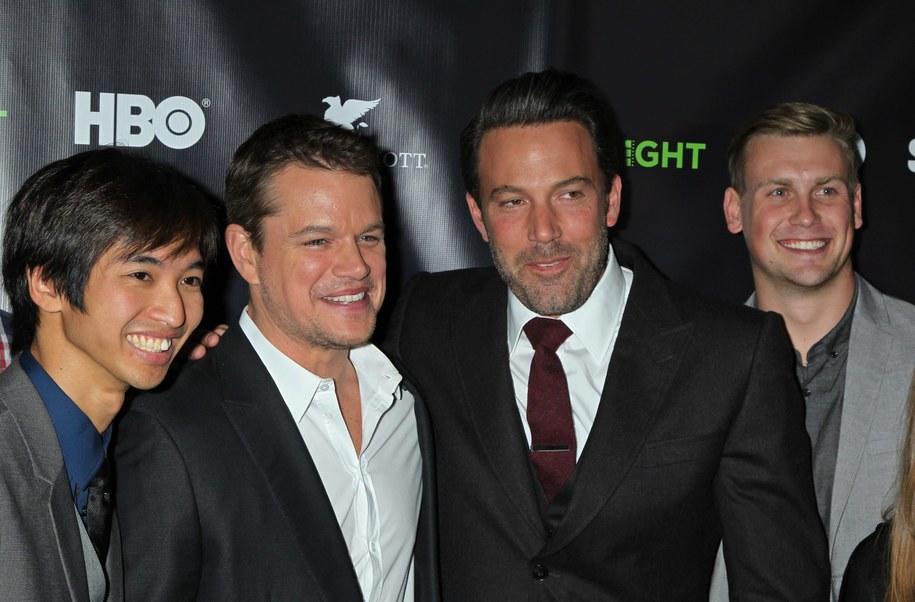 Matt Damon drugi z lewej /JIMMY MORRIS /PAP/EPA