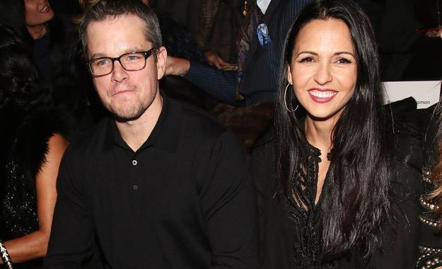 Matt Damon i jego żona Luciana Barroso /AFP