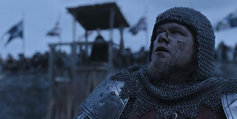 """Matt Damon w filmie """"Ostatni pojedynek"""" /materiały prasowe"""