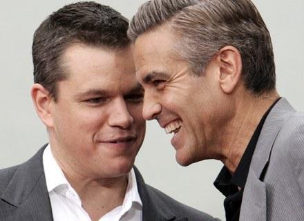 Matt Damon w towarzystwie George'a Clooney /AFP