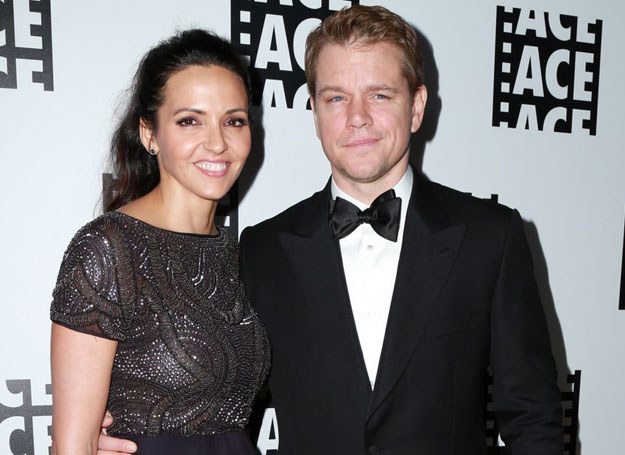 Matt Damon z żona /Parisa / Splash News/EAST NEWS /East News