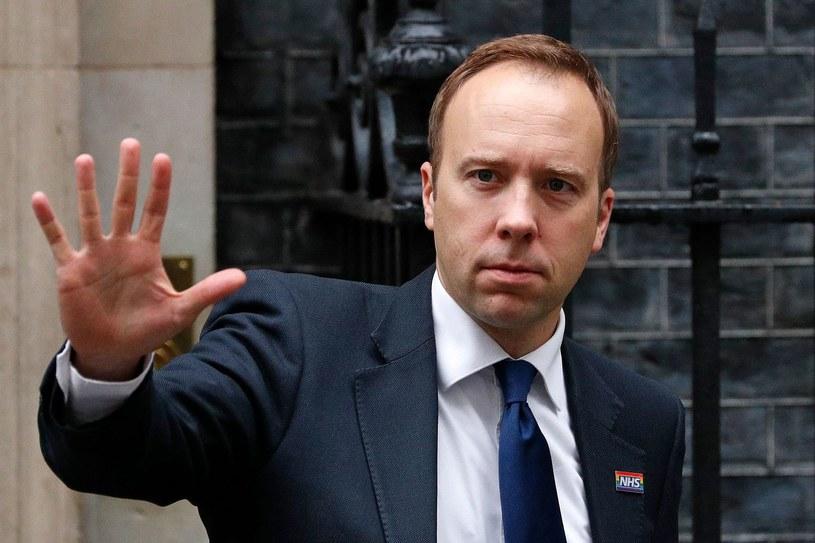 Matt Hancock, minister zdrowia W. Brytanii /AFP