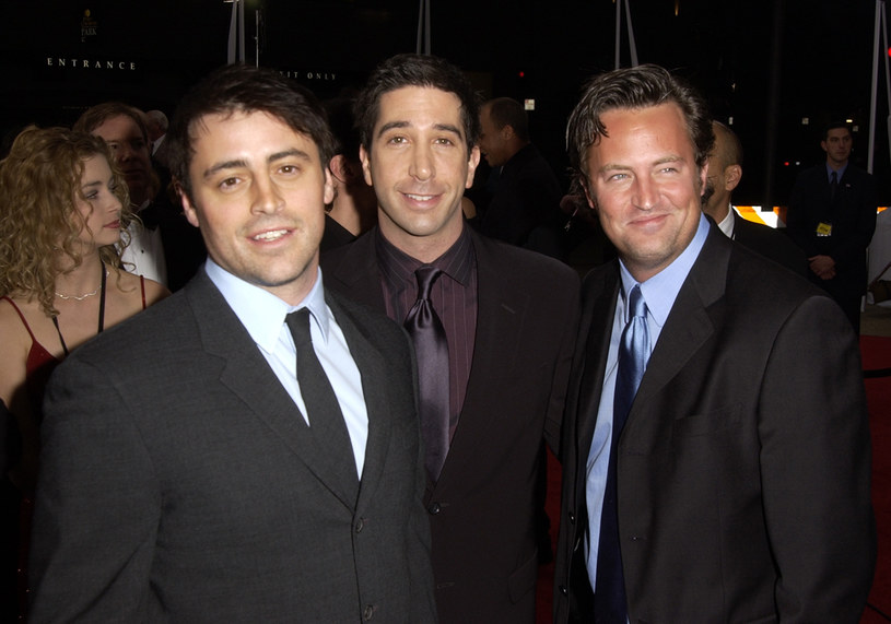 Matt LeBlanc, David Schwimmer i Matthew Perry, 2002 rok /SGranitz /Getty Images